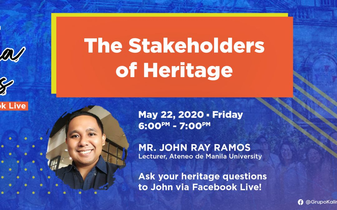 Pamana Talks: The Stakeholders of Heritage
