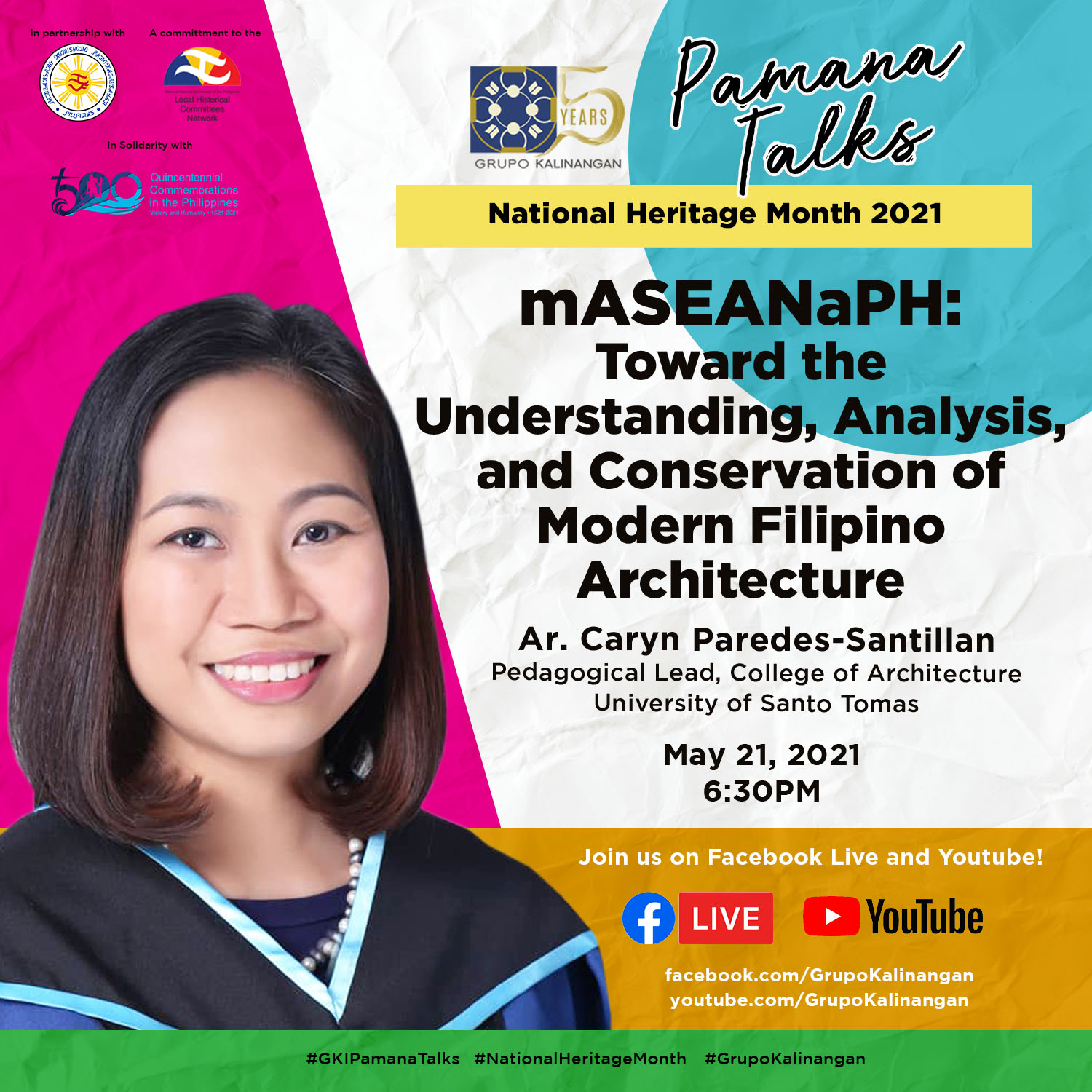 PAMANA TALKS – mASAEANaPH: Towards the Understanding, Analysis and Conservation of Modern Filipino Architecture